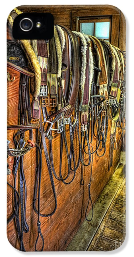 Kentucky Derby IPhone 5 Case featuring the photograph The Tack Room - Equestrian by Lee Dos Santos