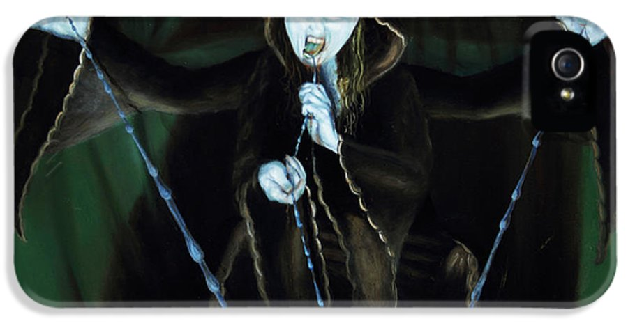 Shelley Irish IPhone 5 Case featuring the painting The Taker by Shelley Irish