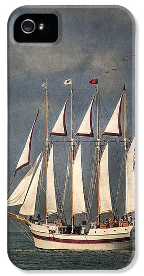 Windy IPhone 5 Case featuring the photograph The Tall Ship Windy by Dale Kincaid