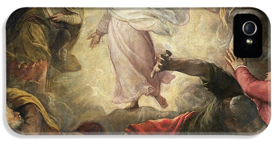 Religious IPhone 5 Case featuring the painting The Transfiguration Of Christ by Titian