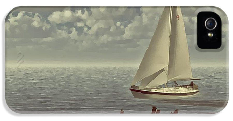 Sailboat IPhone 5 Case featuring the digital art The Treasure by Julie Grace