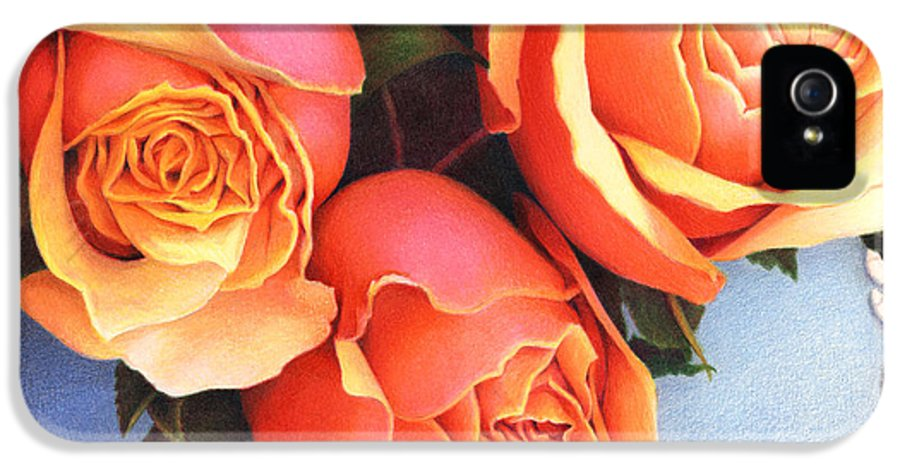 Colored Pencil IPhone 5 Case featuring the drawing The Tribute by Amy S Turner