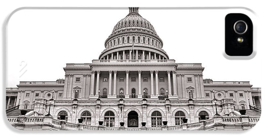 Washington IPhone 5 Case featuring the photograph The United States Capitol by Olivier Le Queinec