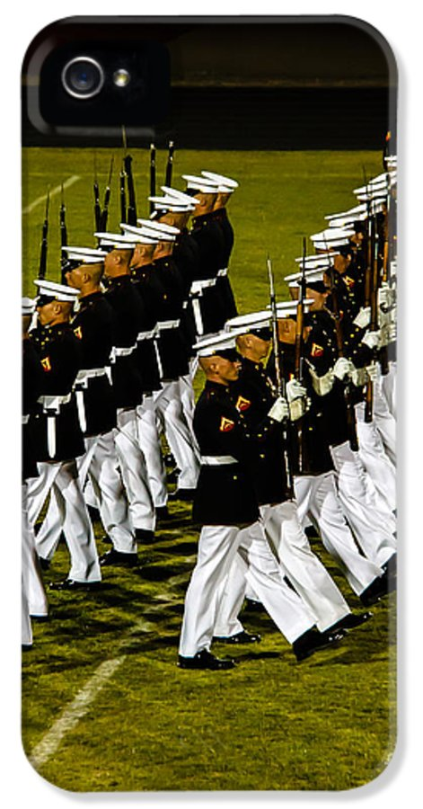 Tunited States IPhone 5 Case featuring the photograph The United States Marine Corps Silent Drill Platoon by Robert Bales