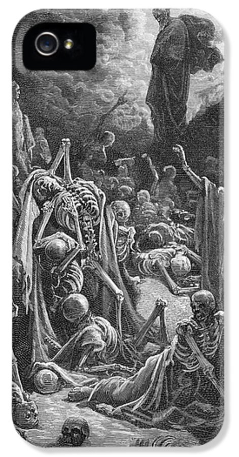 Prophet IPhone 5 Case featuring the painting The Vision Of The Valley Of Dry Bones by Gustave Dore