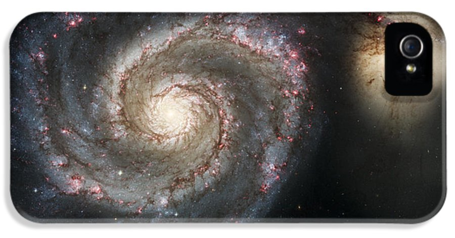 3scape Photos IPhone 5 Case featuring the photograph The Whirlpool Galaxy M51 And Companion by Adam Romanowicz