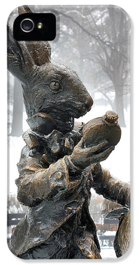 Alice In Wonderland IPhone 5 / 5s Case featuring the photograph The White Rabbit by JC Findley