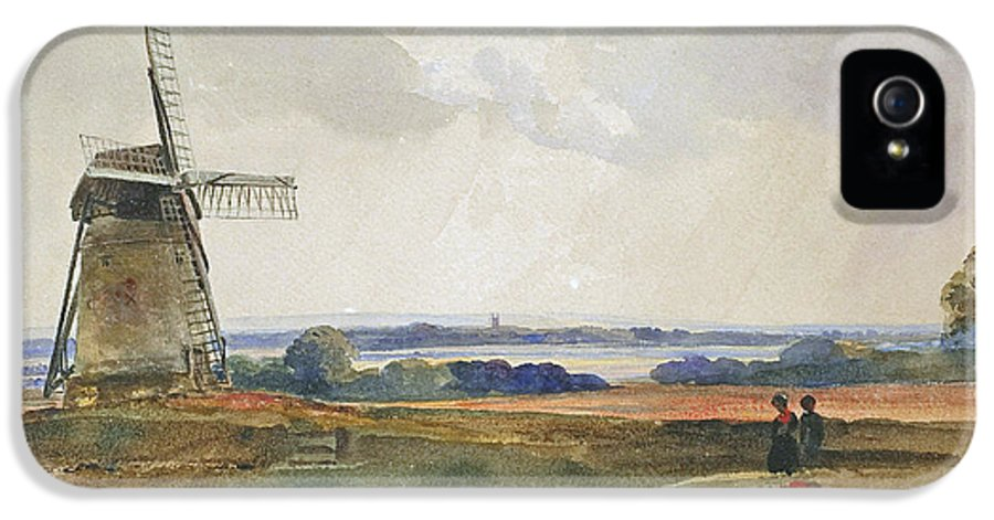 Peter De Wint IPhone 5 Case featuring the painting The Windmill by Peter de Wint