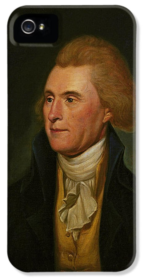 Thomas Jefferson IPhone 5 Case featuring the painting Thomas Jefferson by Charles Wilson Peale
