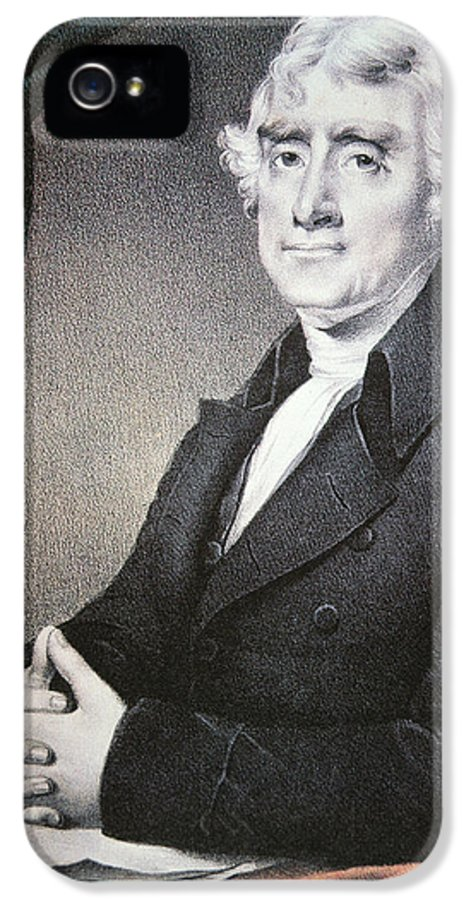 Thomas Jefferson IPhone 5 Case featuring the painting Thomas Jefferson by Nathaniel Currier
