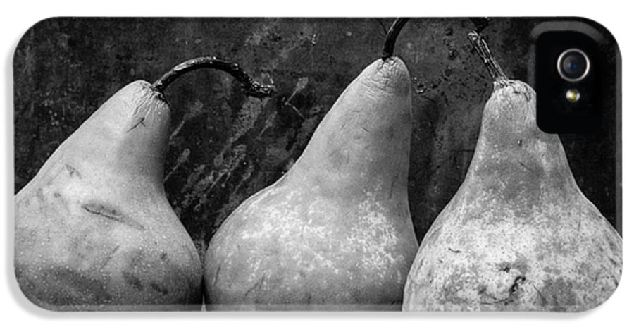 Edward Fielding IPhone 5 Case featuring the photograph Three Pear Still Life Black And White by Edward Fielding