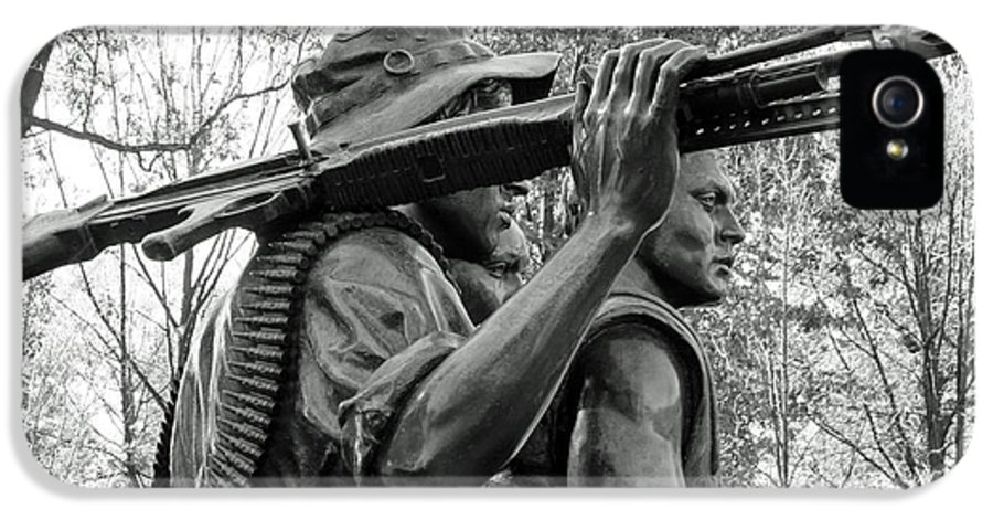 Three Soldiers IPhone 5 Case featuring the photograph Three Soldiers In Vietnam by Cora Wandel