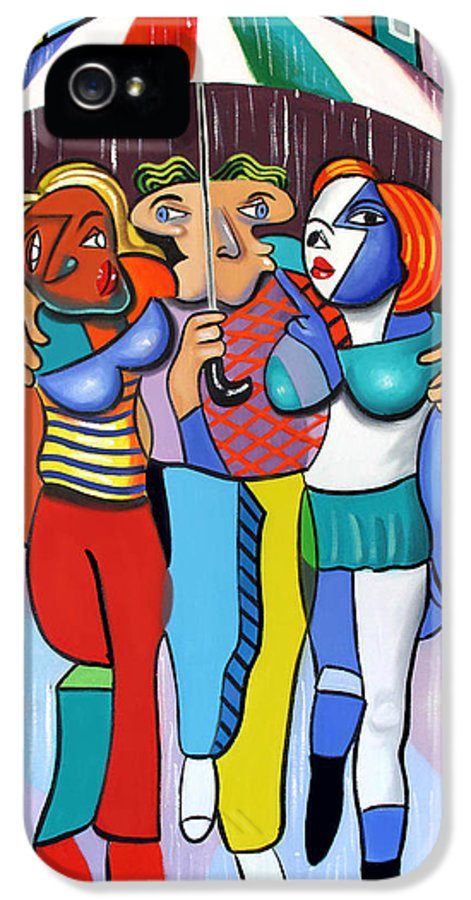 Threes A Crowd IPhone 5 Case featuring the painting Threes A Crowd By Anthony Falbo                     by Anthony Falbo