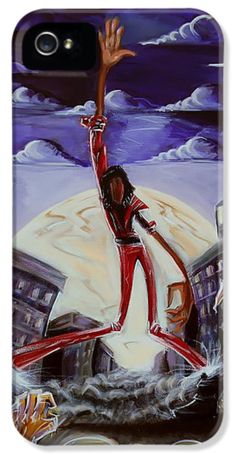 Thriller IPhone 5 Case featuring the painting 'thriller V3' by Tu-Kwon Thomas