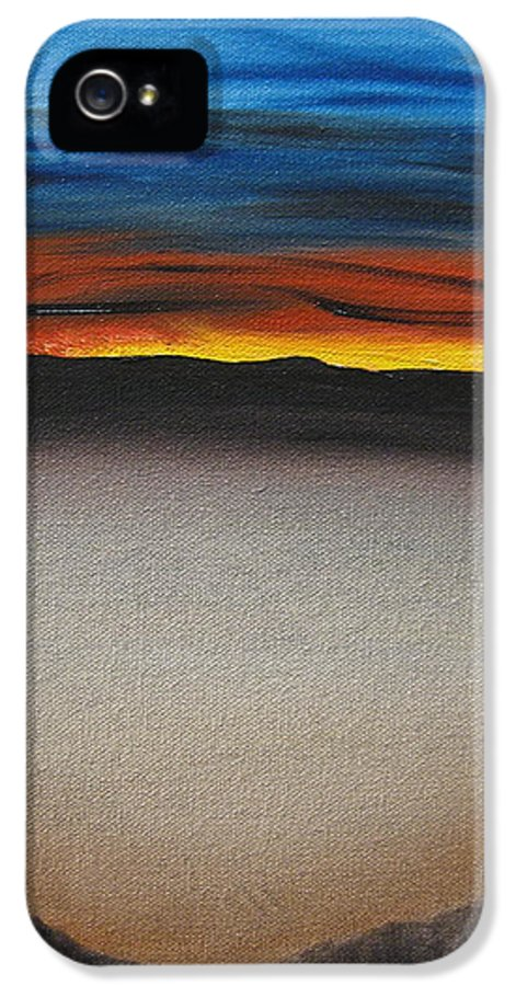 Desert IPhone 5 Case featuring the painting Thriving In The Desert by Sayali Mahajan