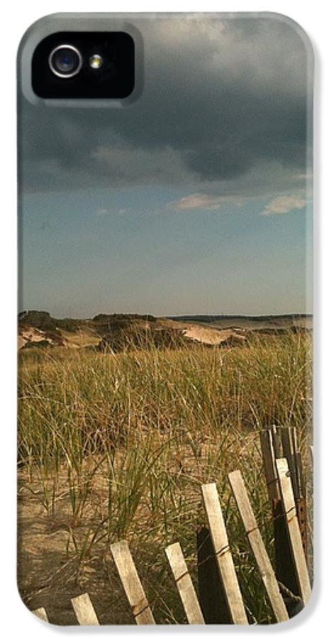 Storm Clouds IPhone 5 Case featuring the photograph Thunder Dunes by Tricia Nilsson