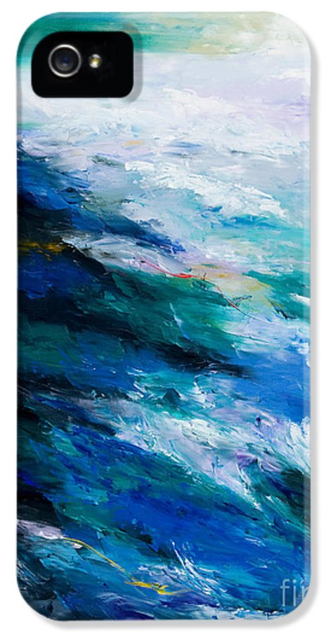 Seascape IPhone 5 Case featuring the painting Thunder Tide by Larry Martin