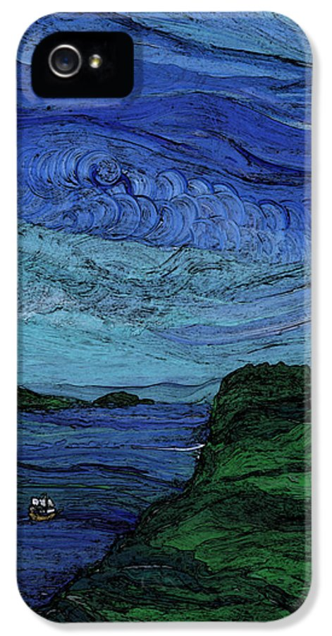 First Star IPhone 5 Case featuring the painting Thunderheads by First Star Art