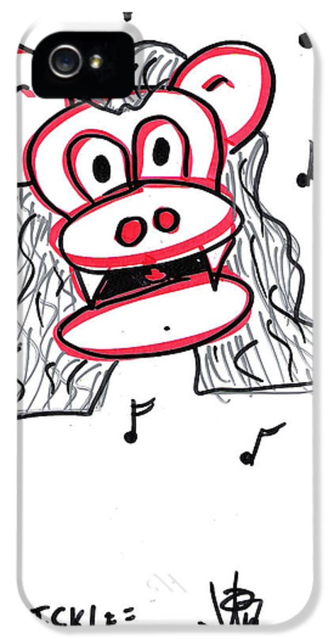 Tickle IPhone 5 Case featuring the drawing Tickle by Jera Sky