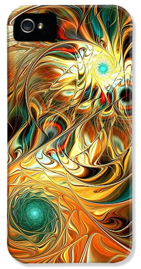 Malakhova IPhone 5 Case featuring the digital art Tiger Vision by Anastasiya Malakhova