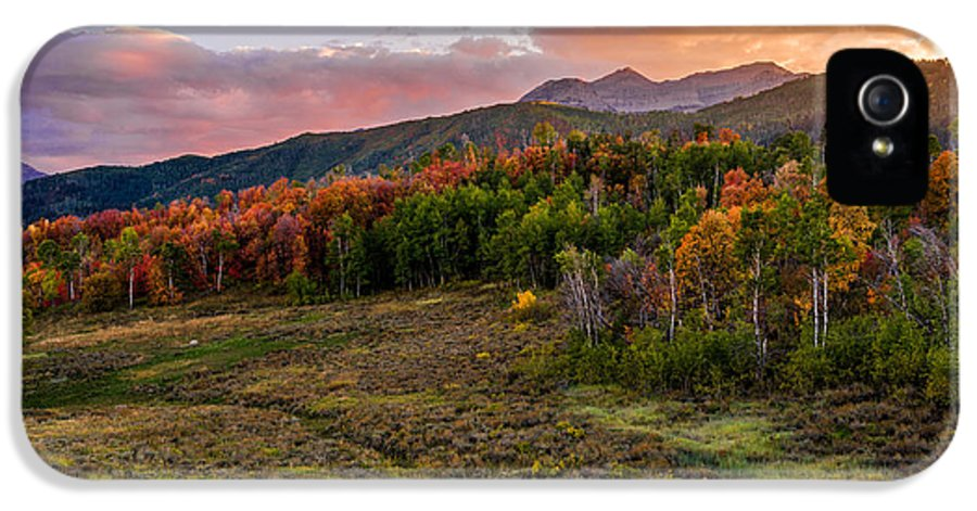 Timp Fall Glow IPhone 5 Case featuring the photograph Timp Fall Glow by Chad Dutson