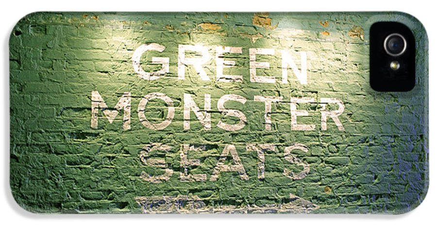 Sign IPhone 5 Case featuring the photograph To The Green Monster Seats by Barbara McDevitt