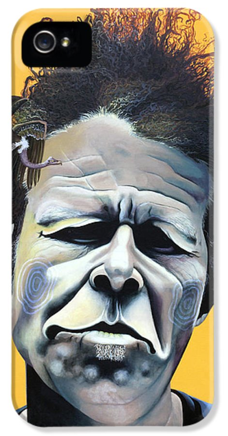 Kellyjadeart IPhone 5 Case featuring the painting Tom Waits - He's Big In Japan by Kelly Jade King