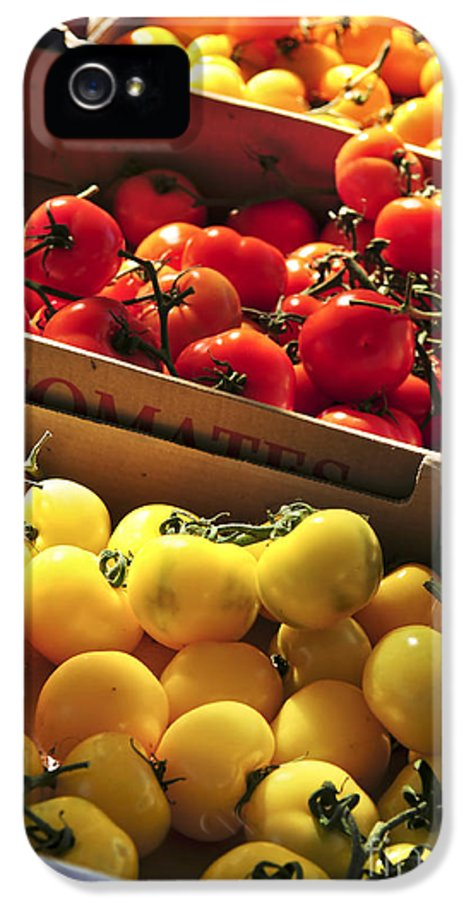 Tomato IPhone 5 Case featuring the photograph Tomatoes On The Market by Elena Elisseeva