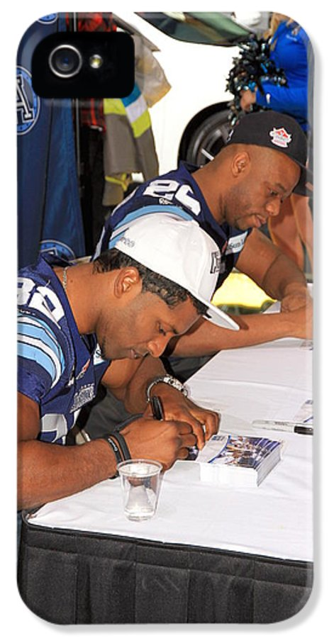 2013 IPhone 5 Case featuring the photograph Toronto Argonauts Players Signing Autographs by Valentino Visentini