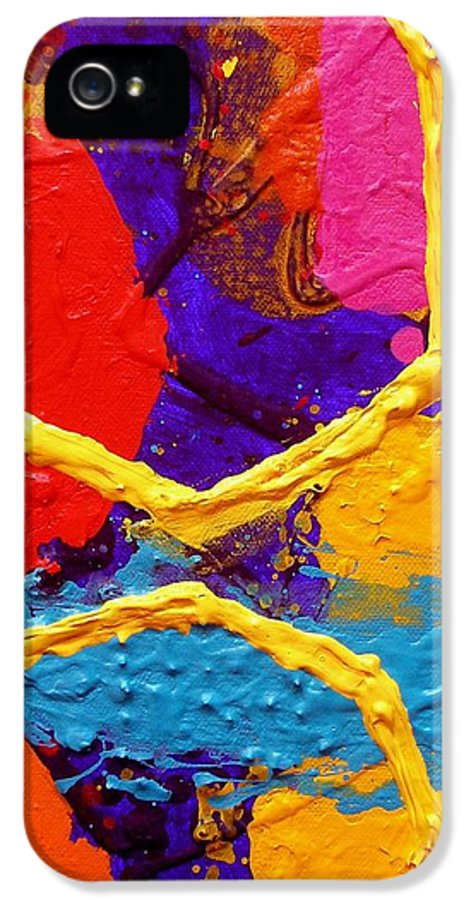 Abstract IPhone 5 / 5s Case featuring the painting Totem Iv by John Nolan