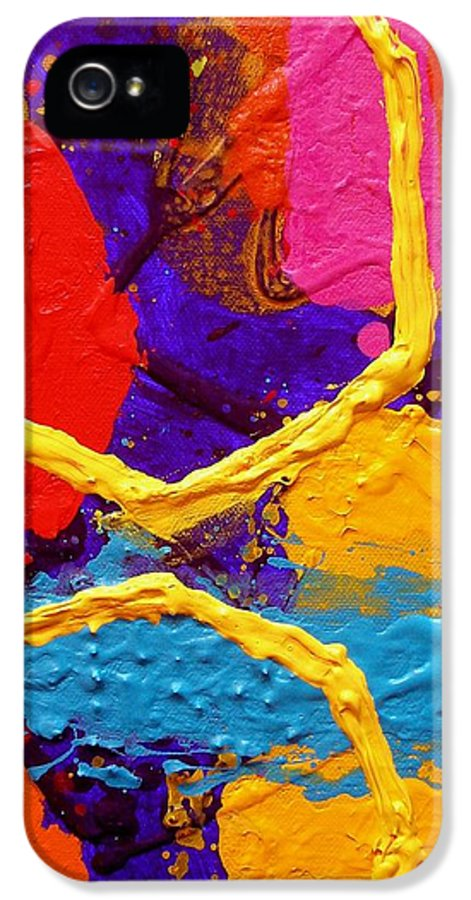 Abstract IPhone 5 Case featuring the painting Totem Iv by John Nolan