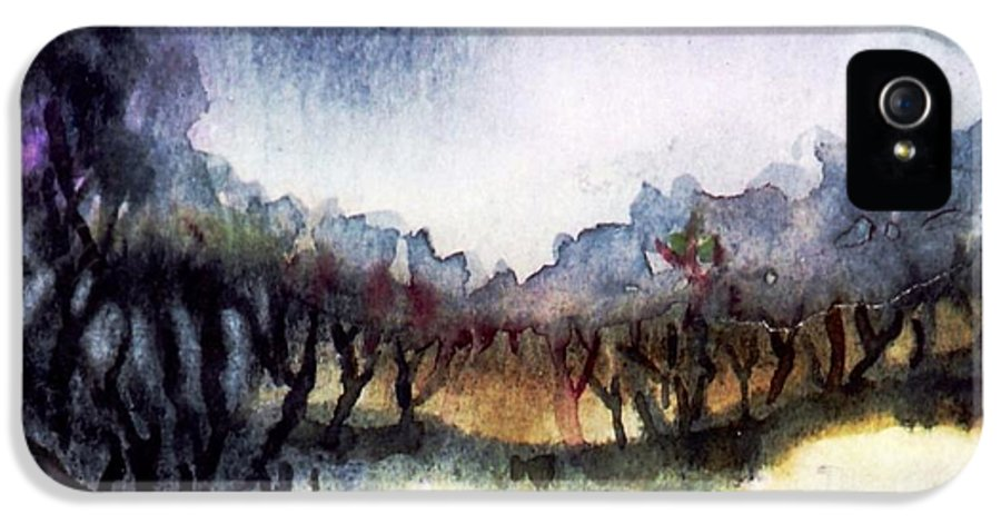 Bogland IPhone 5 Case featuring the painting Towards The Misty Bogland by Trudi Doyle