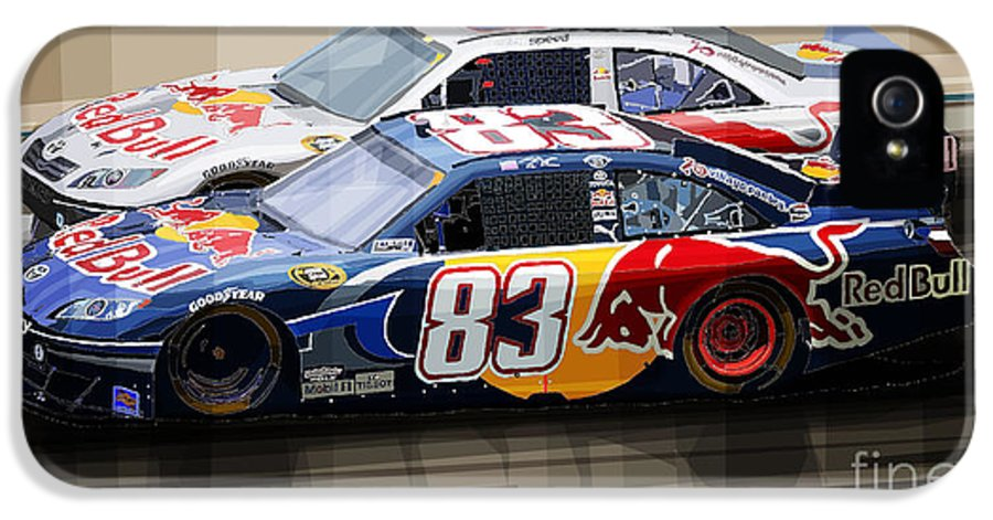 Automotive IPhone 5 / 5s Case featuring the mixed media Toyota Camry Nascar Nextel Cup 2007 by Yuriy Shevchuk