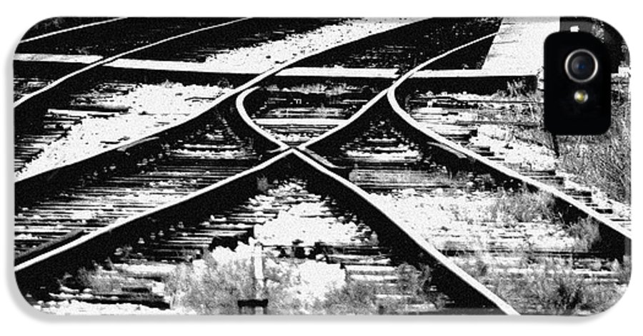 Train IPhone 5 Case featuring the photograph Tracks by Alan Oliver