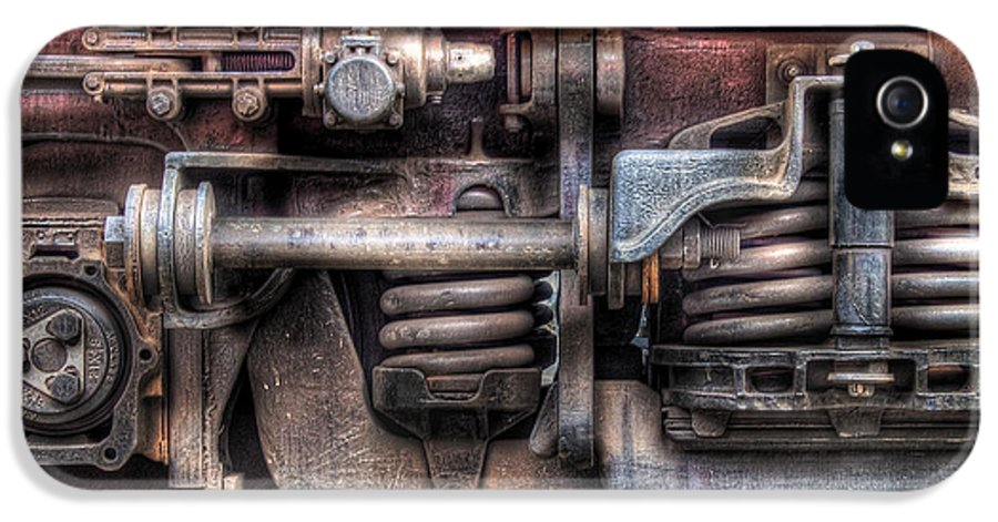 Savad IPhone 5 Case featuring the photograph Train - Car - Springs And Things by Mike Savad