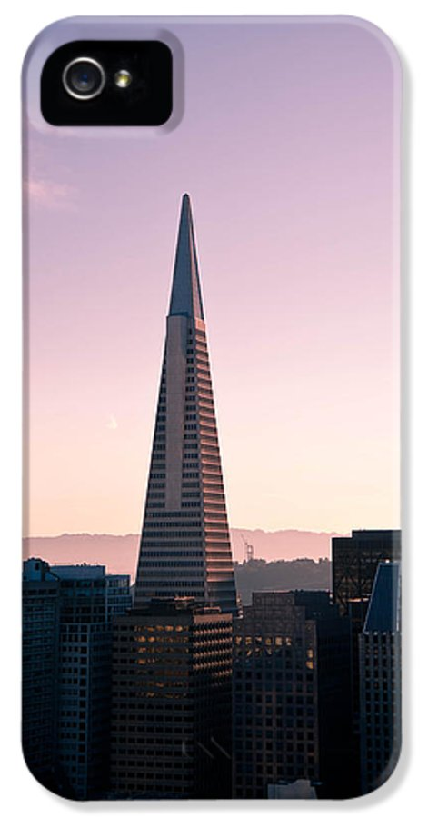 Architecture IPhone 5 Case featuring the photograph Transamerica Pyramid by Zina Zinchik