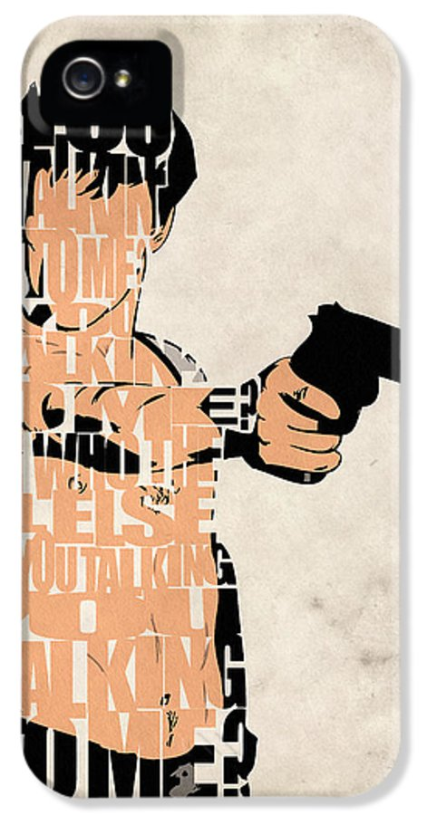 Taxi Driver IPhone 5 Case featuring the painting Travis Bickle - Robert De Niro by Ayse Deniz