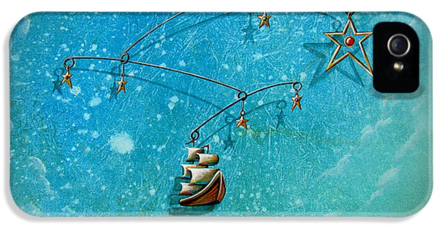 Boat IPhone 5 Case featuring the painting Treasure Hunter by Cindy Thornton