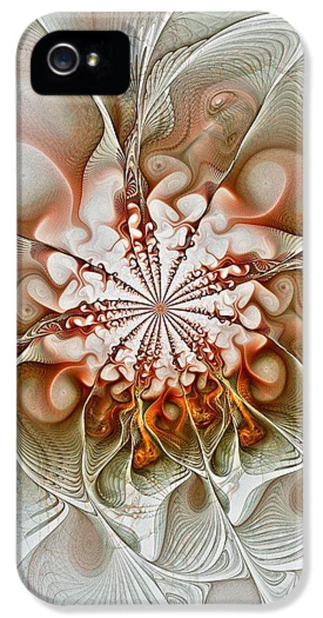 Digital Art IPhone 5 Case featuring the digital art Treasured by Amanda Moore