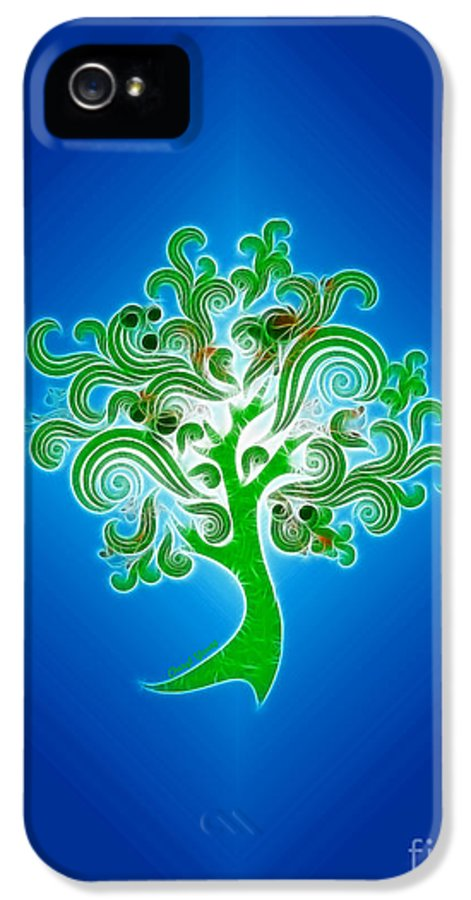 Abstract Digital Art IPhone 5 / 5s Case featuring the photograph Tree Of Life by Cheryl Young