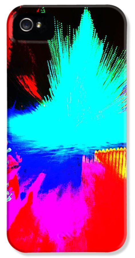 Abstract IPhone 5 / 5s Case featuring the photograph Tree Splash by Jeffrey J Nagy
