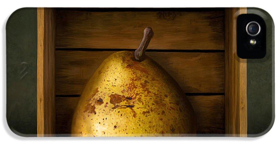 Pear IPhone 5 Case featuring the digital art Tribute To Magritte by Bob Nolin