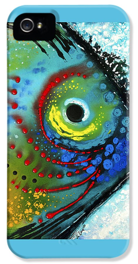 Sharon Cummings IPhone 5 Case featuring the painting Tropical Fish - Art By Sharon Cummings by Sharon Cummings