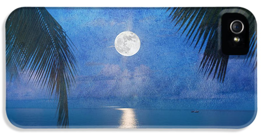 Seascape IPhone 5 Case featuring the photograph Tropical Moonglow by Betty LaRue