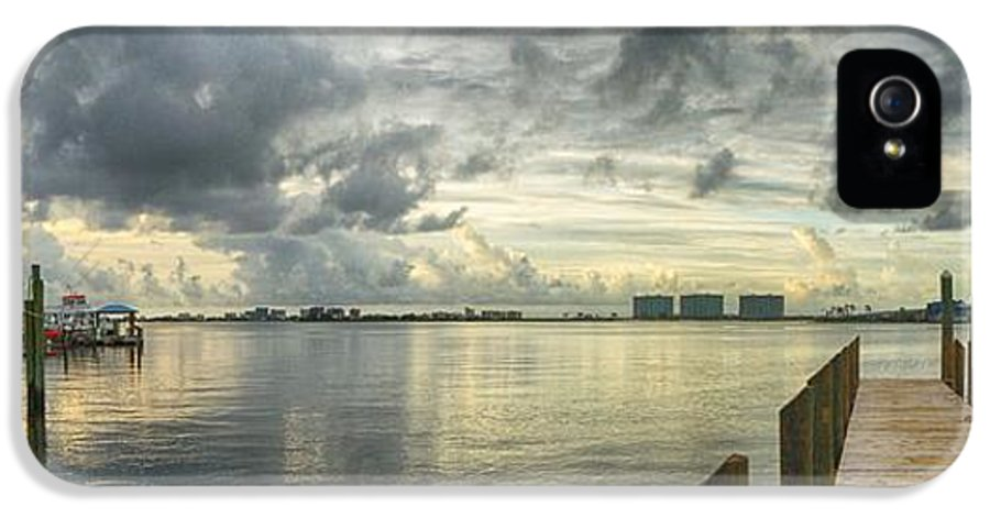 Palm IPhone 5 Case featuring the digital art Tropical Winds In Orange Beach by Michael Thomas