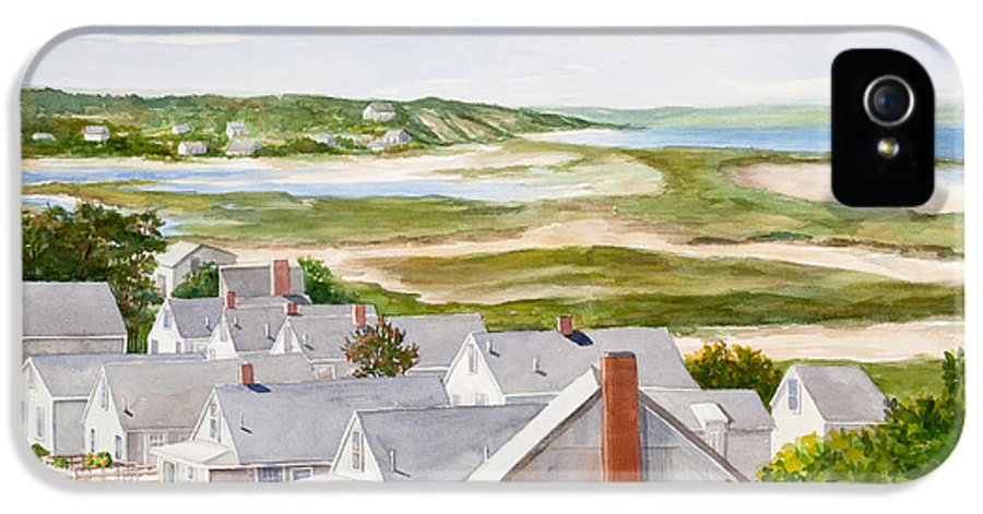 Watercolor IPhone 5 Case featuring the painting Truro Summer Cottages by Michelle Wiarda-Constantine