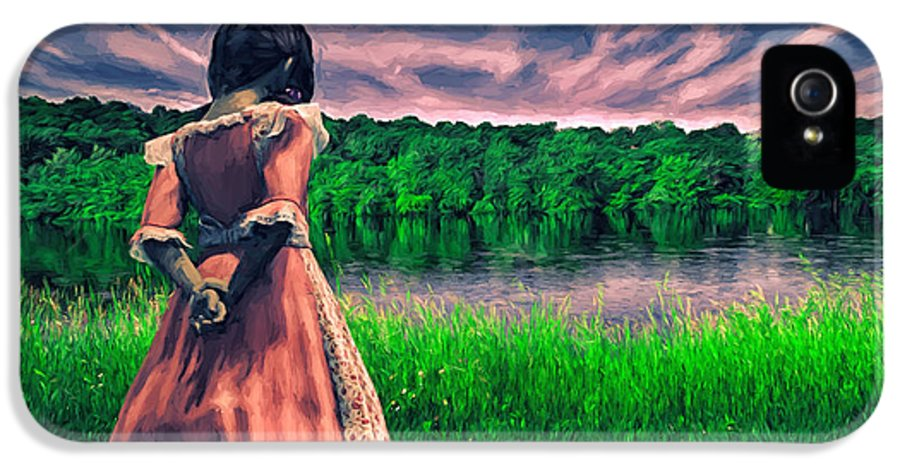 Innocence IPhone 5 Case featuring the painting Tuesdays Child by Bob Orsillo
