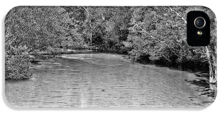 Creek IPhone 5 Case featuring the photograph Turkey Creek Bw by JC Findley