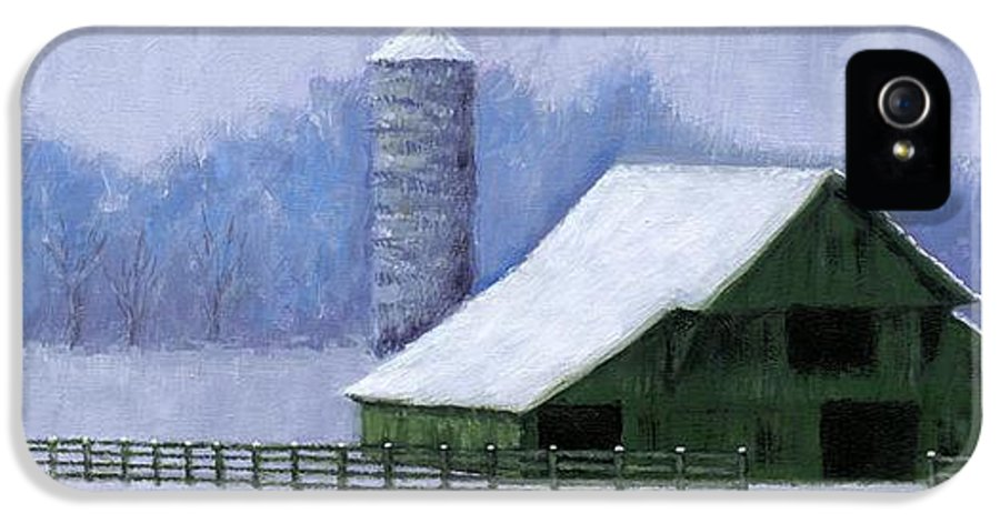Barn IPhone 5 / 5s Case featuring the painting Turner Barn In Brentwood by Janet King