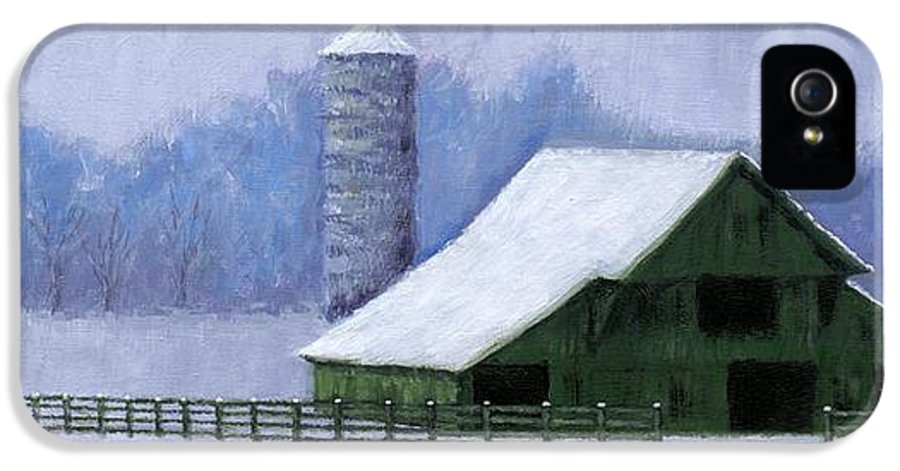 Barn IPhone 5 Case featuring the painting Turner Barn In Brentwood by Janet King